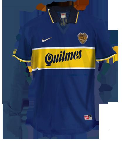 fe649b9b1 camiseta Boca Jrs. 1996-97