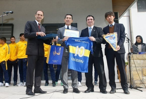 Las inferiores de Boca fueron homenajeadas por la embajada de Japon